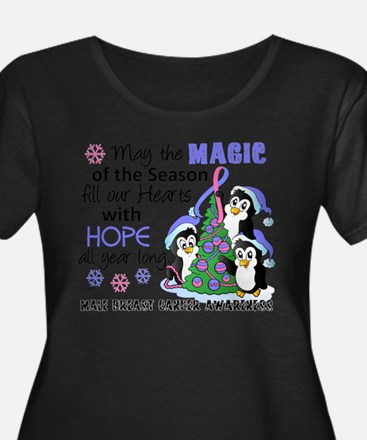 Holiday Penguins Male Breast Cancer T