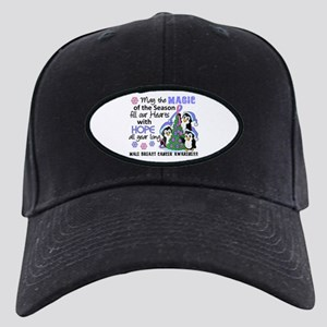 Holiday Penguins Male Breast Cancer Black Cap