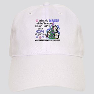 Holiday Penguins Male Breast Cancer Cap