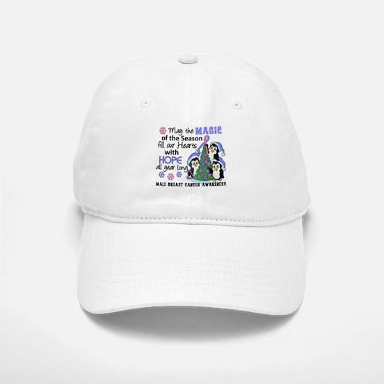 Holiday Penguins Male Breast Cancer Baseball Baseball Cap