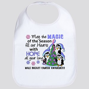 Holiday Penguins Male Breast Cancer Bib