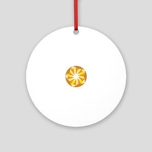 Topaz Gem Ornament (Round)
