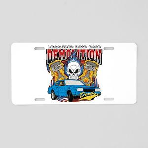 Demolition Derby Aluminum License Plate