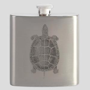 Turtle Vintage Flask