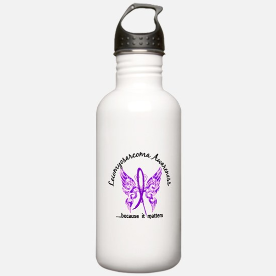 Leiomyosarcoma Butterf Water Bottle
