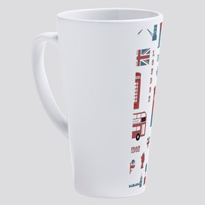 London Montage 17 oz Latte Mug