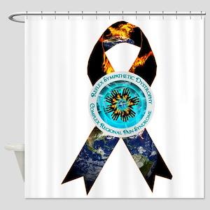CRPS Earth Burns Ribbon Shower Curtain