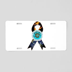 CRPS Earth Burns Ribbon Aluminum License Plate