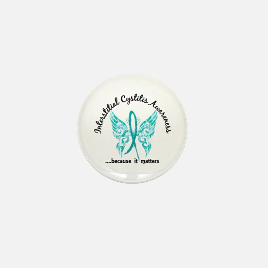 Interstitial Cystitis Butterfly 6.1 Mini Button