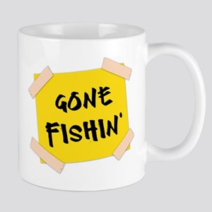 Gone Fishin' Sign Mug