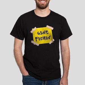 Gone Fishin' Sign Dark T-Shirt