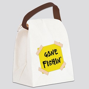 Gone Fishin' Sign Canvas Lunch Bag