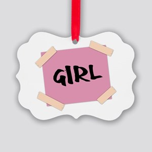 Girl Sign Picture Ornament