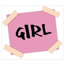 Girl Sign Poster