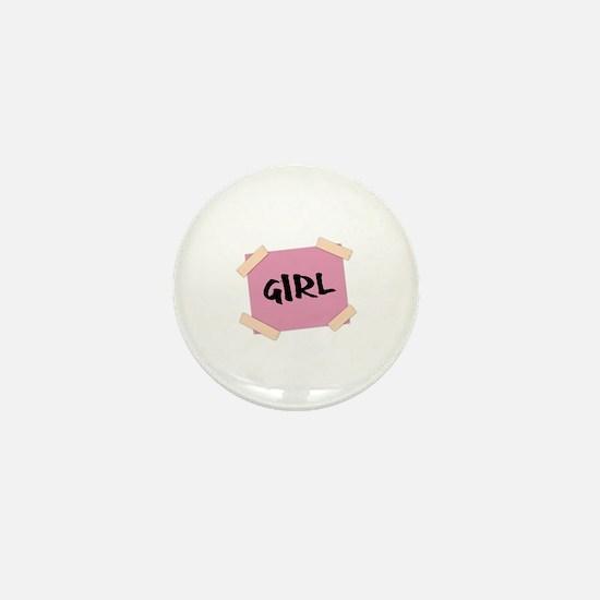 Girl Sign Mini Button