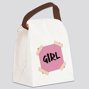 Girl Sign Canvas Lunch Bag