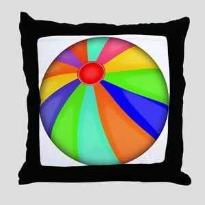 Colorful Beach Ball Throw Pillow