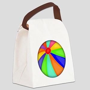 Colorful Beach Ball Canvas Lunch Bag