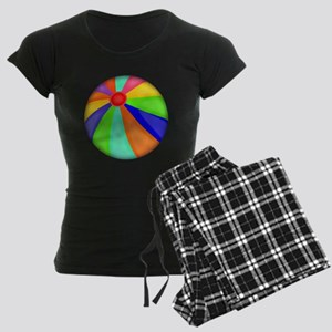 Colorful Beach Ball Women's Dark Pajamas