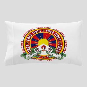 Free Tibet Snow Lions Pillow Case