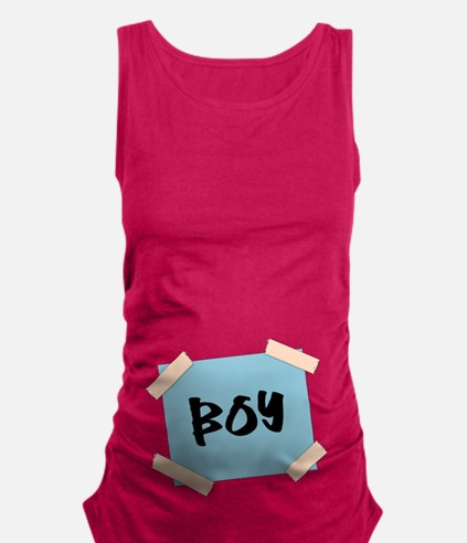 Boy Sign Maternity Tank Top