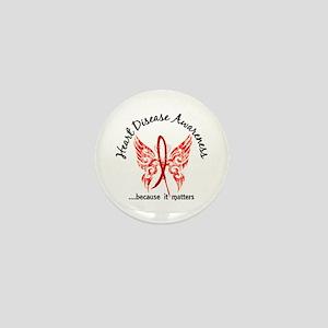 Heart Disease Butterfly 6.1 Mini Button