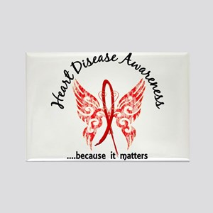Heart Disease Butterfly 6.1 Rectangle Magnet