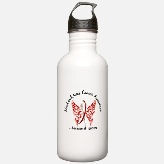 Head Neck Cancer Butte Water Bottle