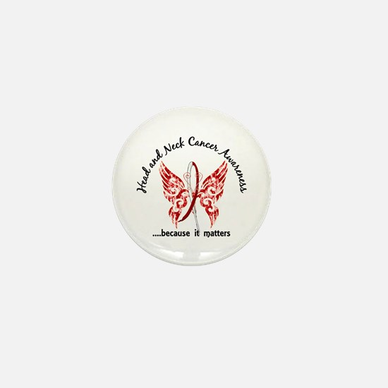 Head Neck Cancer Butterfly 6.1 Mini Button