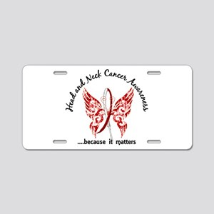Head Neck Cancer Butterfly Aluminum License Plate