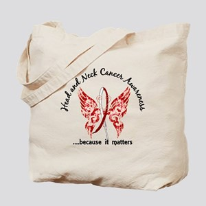 Head Neck Cancer Butterfly 6.1 Tote Bag