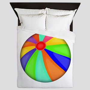 Colorful Beach Ball Queen Duvet