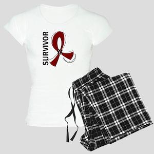 Head Neck Cancer Survivor 1 Women's Light Pajamas