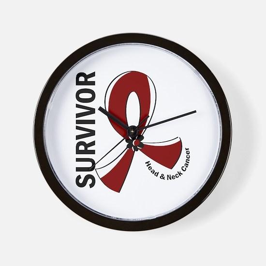 Head Neck Cancer Survivor 12 Wall Clock