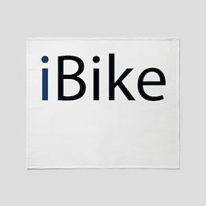 ibike (blue) Throw Blanket