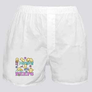 Just Hanging With My Peeps Boxer Shorts