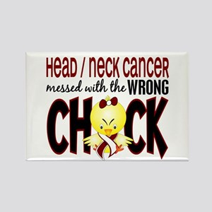 Head Neck Cancer MessedWithWrongC Rectangle Magnet