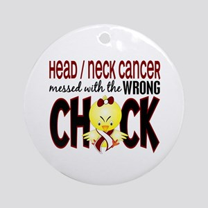 Head Neck Cancer MessedWithWrongC Ornament (Round)