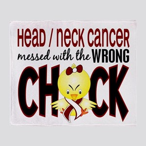 Head Neck Cancer MessedWithWrongChic Throw Blanket