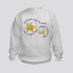 My fingers might be small, but Ive Kids Sweatshirt