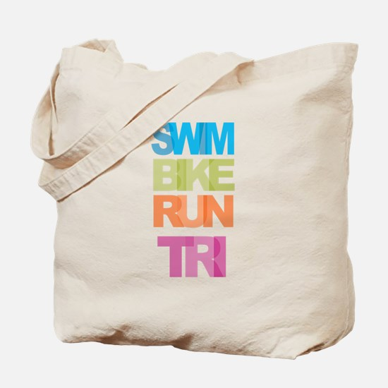 SWIM BIKE RUN TRI Tote Bag