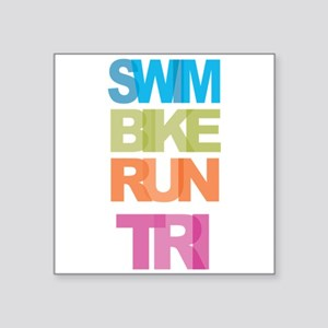 SWIM BIKE RUN TRI Sticker