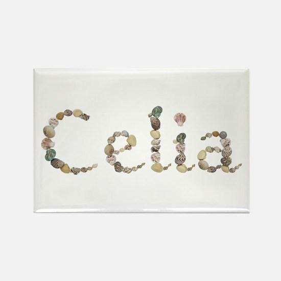 Celia Seashells Rectangle Magnet
