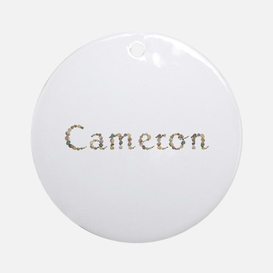 Cameron Seashells Round Ornament