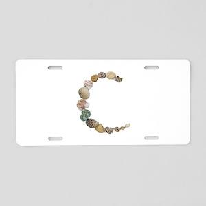 C Seashells Aluminum License Plate