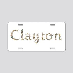 Clayton Seashells Aluminum License Plate