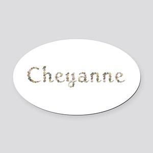 Cheyanne Seashells Oval Car Magnet