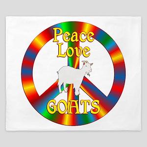 Peace Love Goats King Duvet