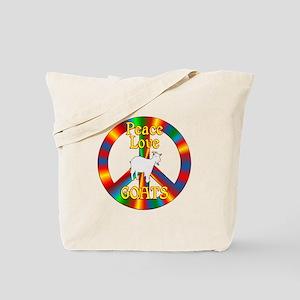 Peace Love Goats Tote Bag