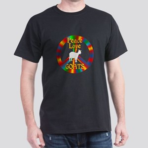 Peace Love Goats Dark T-Shirt